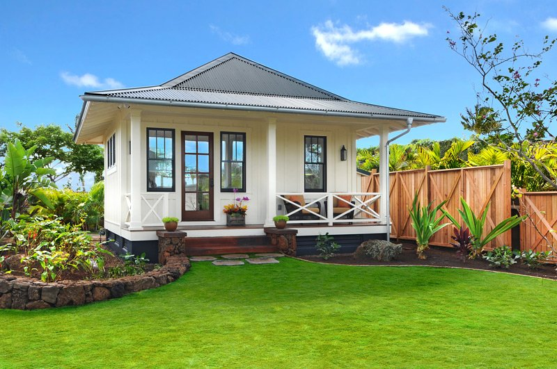 Retro hawaii beach cottage fine design hawaii for Small house plans hawaii