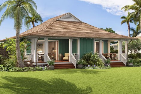 Hawaiian style bungalow joy studio design gallery best for Hawaiian style house plans