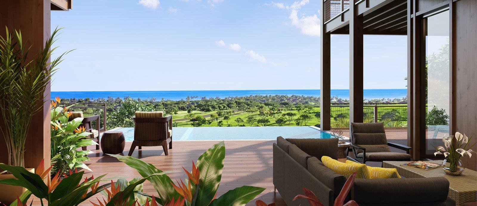 Ocean Views from Olson Kunding Custom Home #40 - Kukuiula Real Estate Kauai