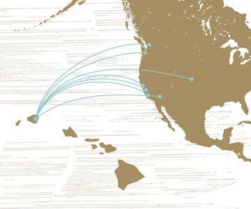 Map to Kauai