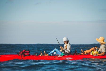 Kayak fishing kauai