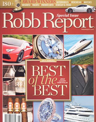 Robb's Report cover