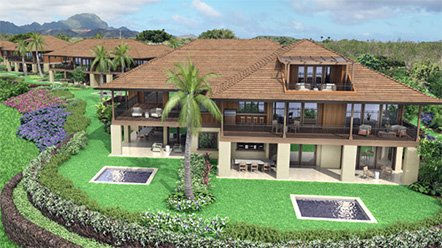 Beautiful view of luxury Kainani Villas custom homes for sale