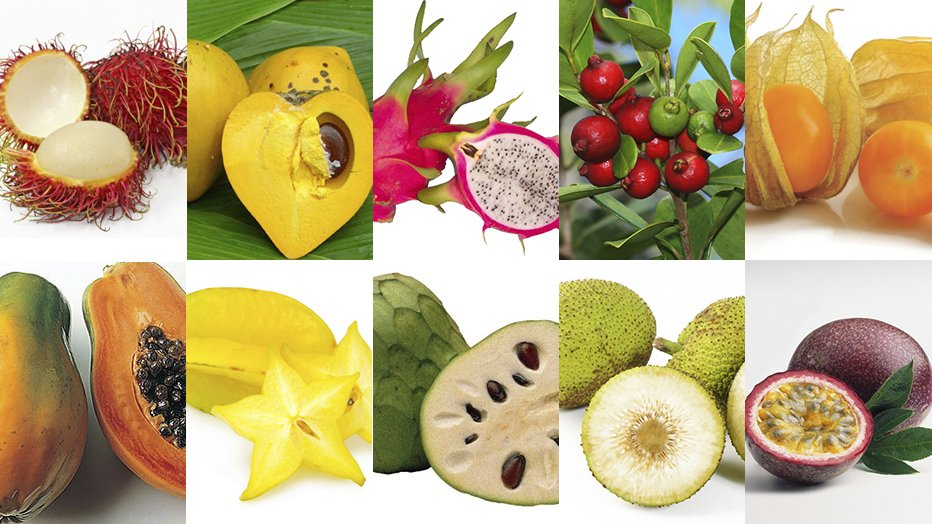 10 unique hawaiian fruits