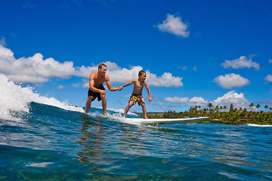 Surfing Poipu Kauai