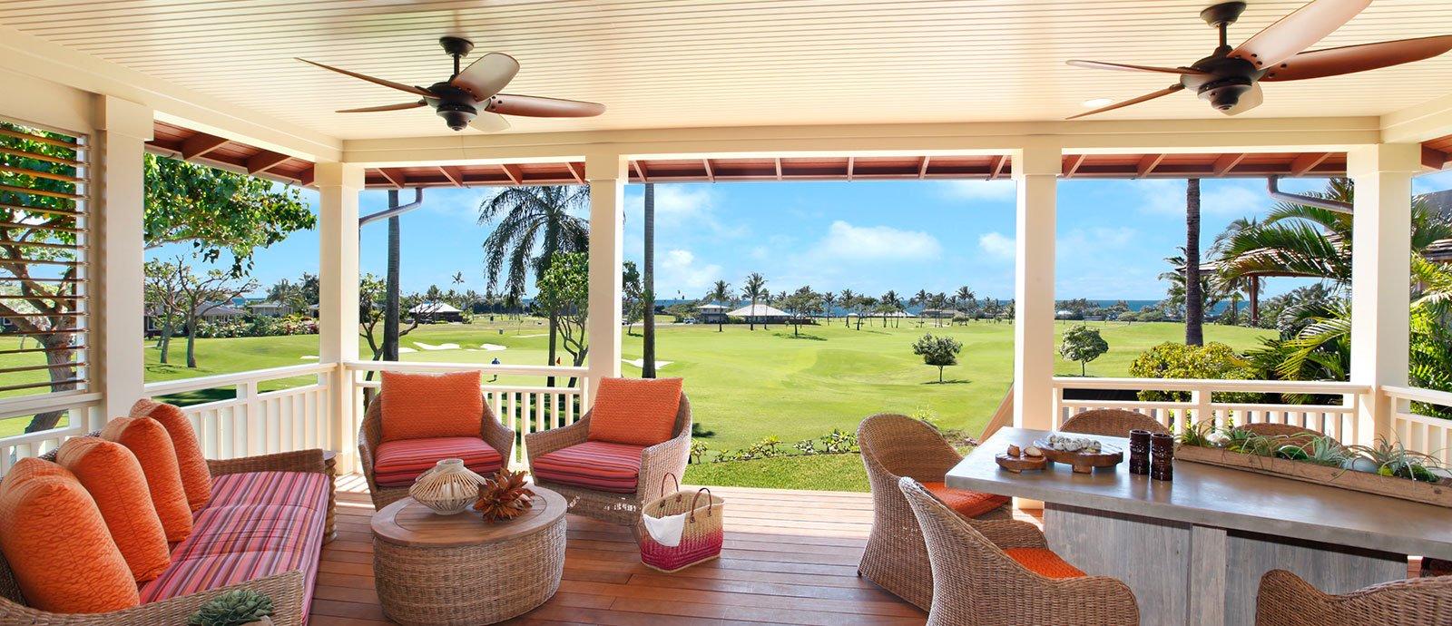 2 bedroom club bungalow lanai views