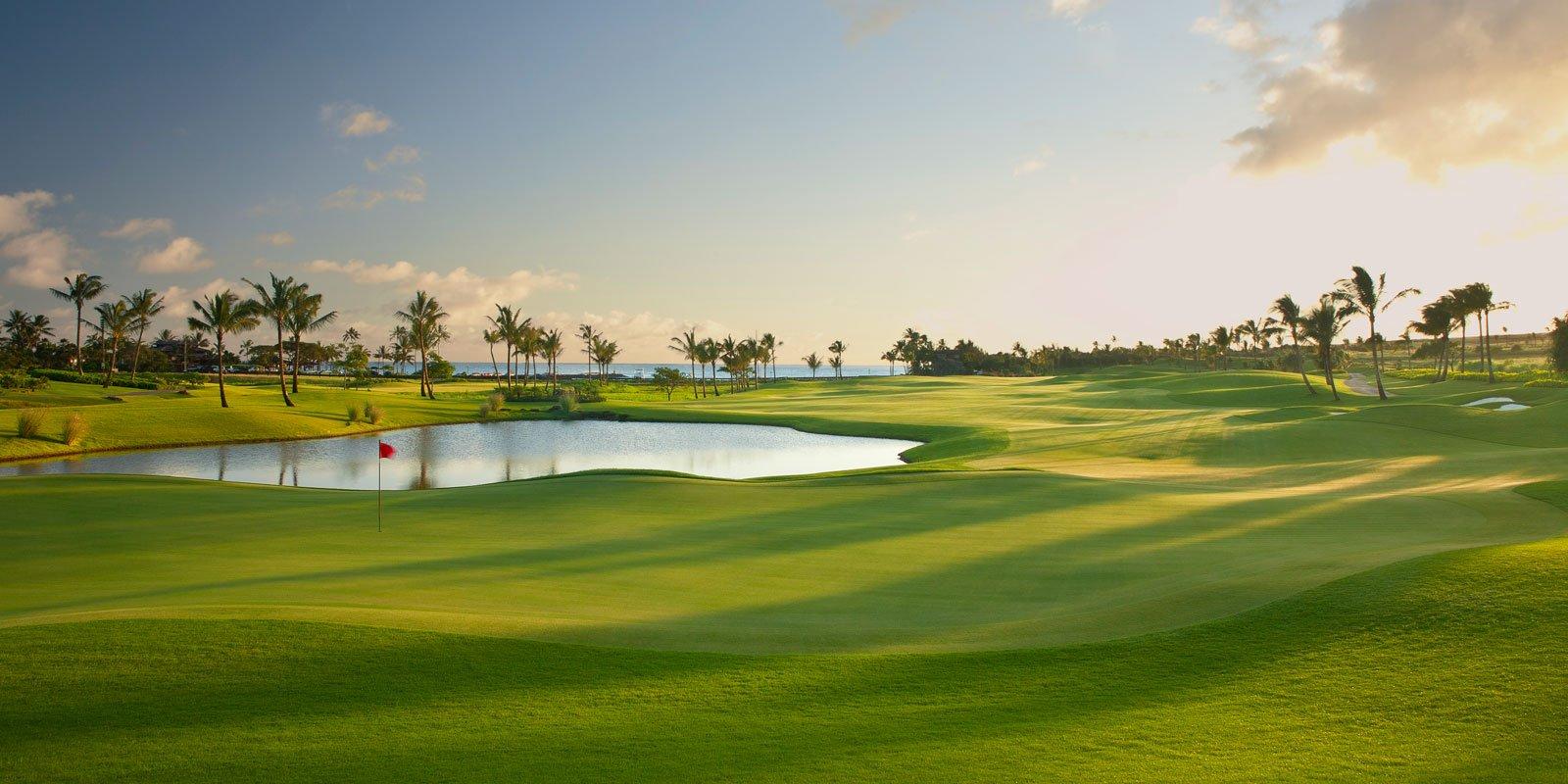 18th hole at kukuiula golf course