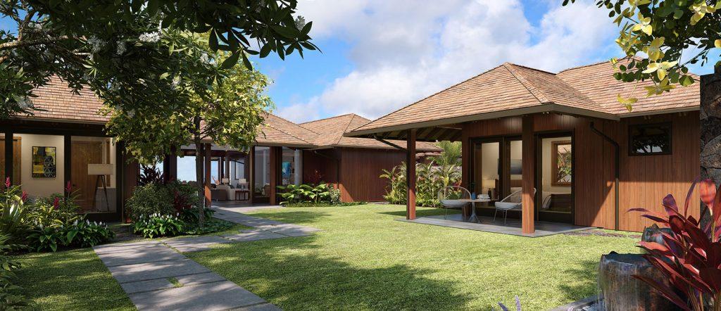 Kainani 18 custom home entrance- Kukuiula Real Estate Kauai