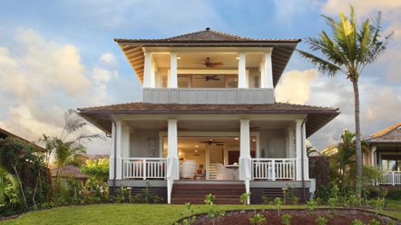Front view of Club Bungalow C7 on Kauai island