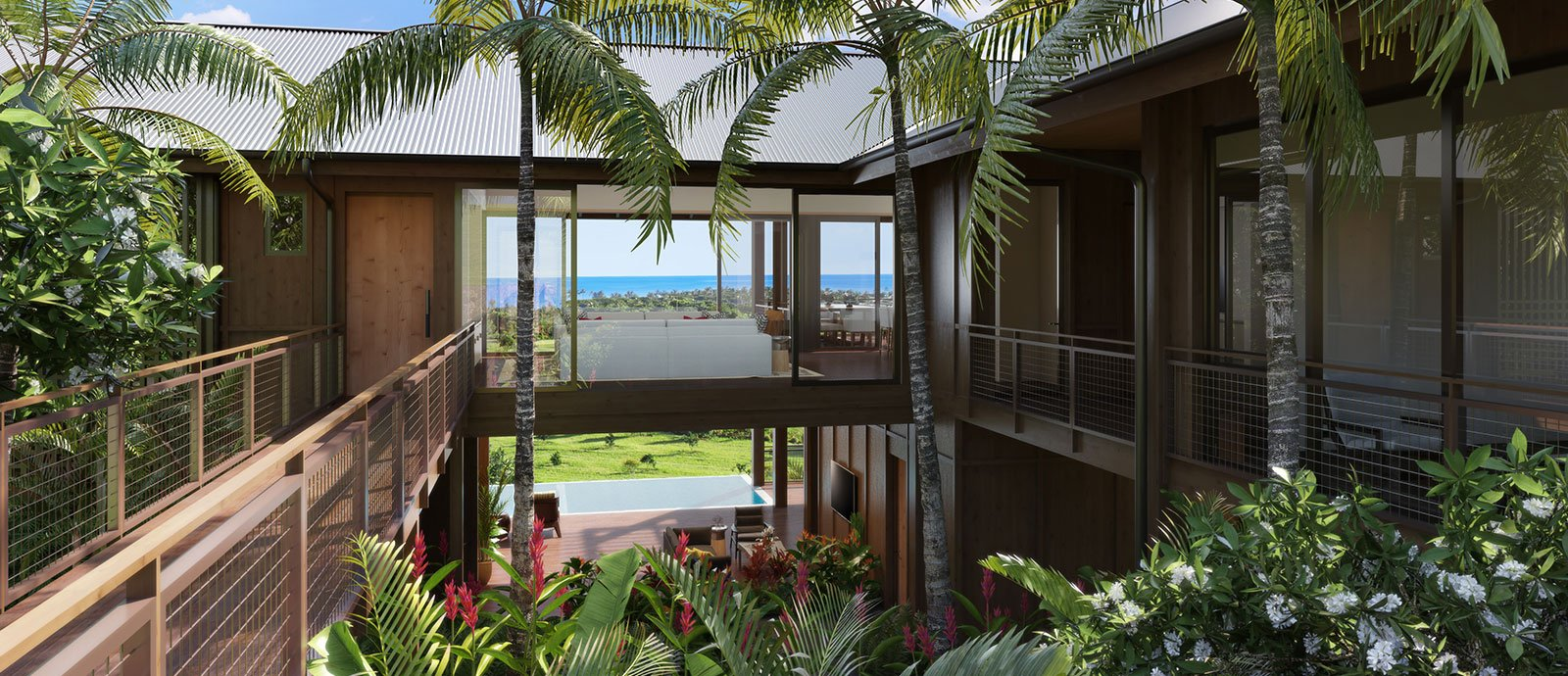 Entry Olson Kunding Custom Home #40 - Kukuiula Real Estate Kauai