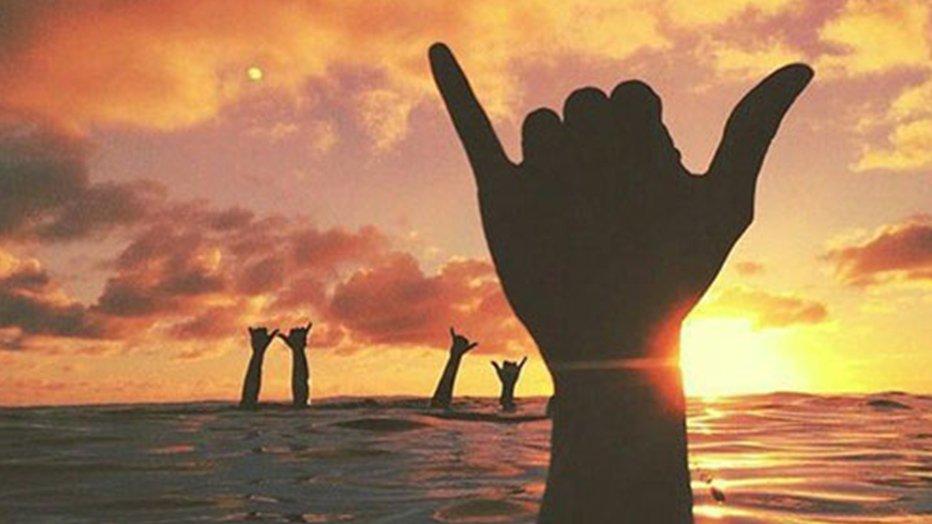 shaka hawaiian hand symbol